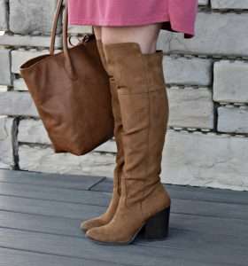 Melissa Mom with Style Open Back Tunic with Target tall boots