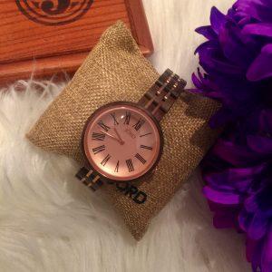 Melissa Mom with Style Unique Watch Cassie Walnut & Vintage Rose Watch