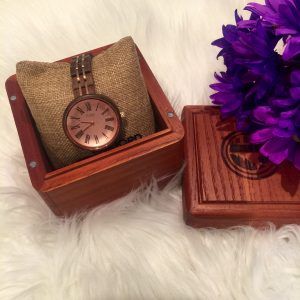 Melissa Mom with Style Unique Watch Cassie Walnut & Vintage Rose Watch