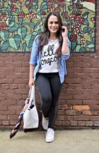 Melissa Mom with Style From Yoga to Brunch Look