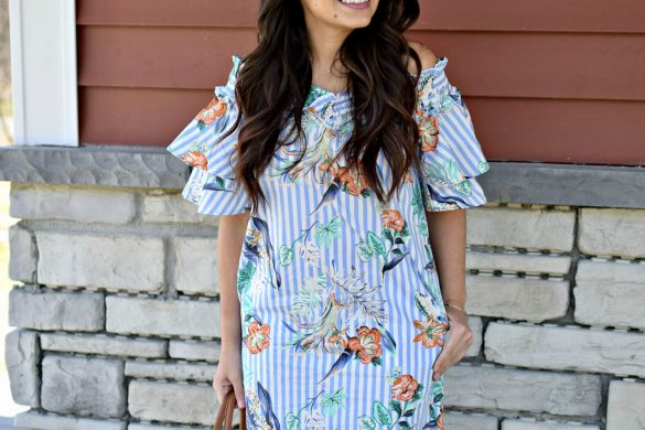 Melissa Mom with Style Trendy Off The Shoulder Dress