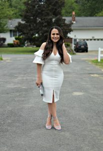 Melissa Mom with Style 3 Must Have White Dresses For Bridal Events: Midi Dress