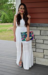 Melissa Mom with Style 3 Must Have White Dresses For Bridal Events: Maxi Dress