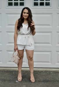 Melissa Mom with Style styling this beautiful dressy romper