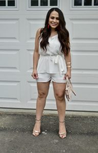 Melissa Mom with Style loving this Bella V Boutique Romper