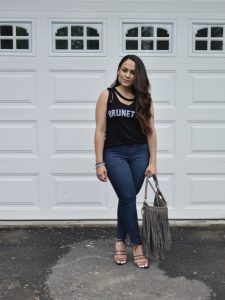 Melissa Mom with Style Causal Graphic Tee Date Night Look