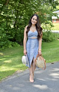 Melissa Mom with Style Stripe Cut Out Dress All Fashionista's Want