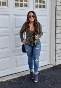 Melissa Mom with Style Trendy Wrap Top You Need