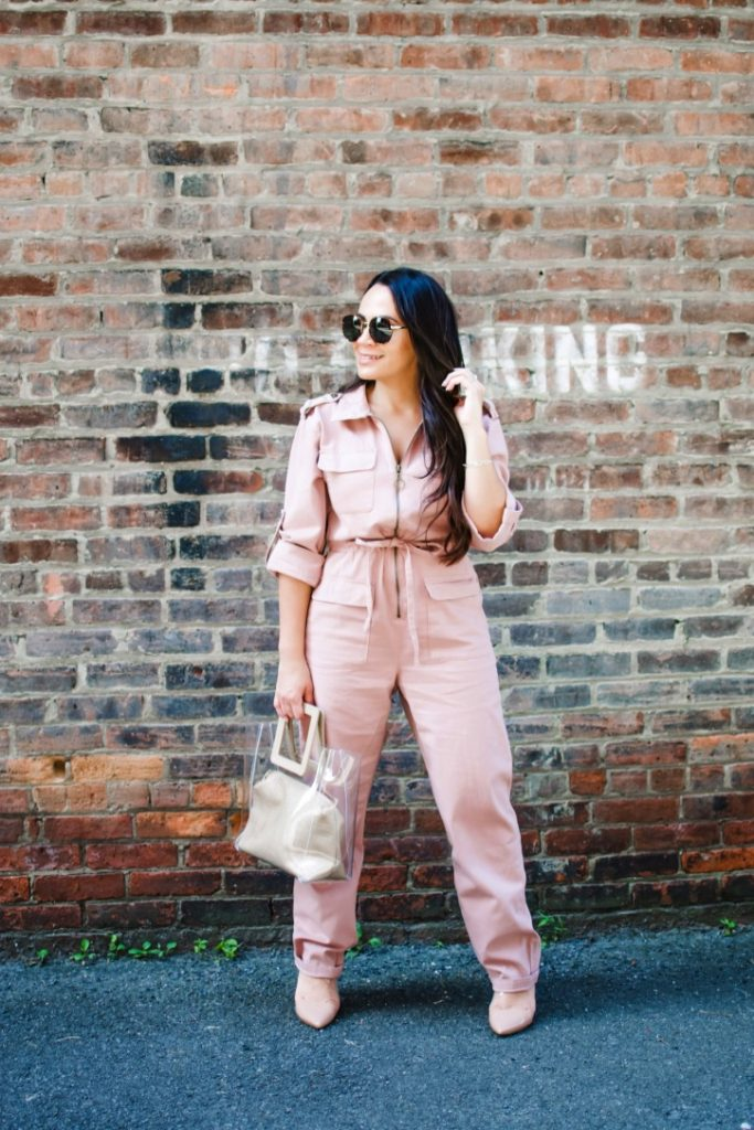Melissa Mom with Style Utilitarian Jumpsuit Fall Obsession