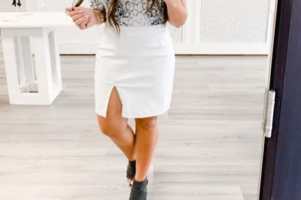 Melissa Mom with Style Must Have White Leather Skirts