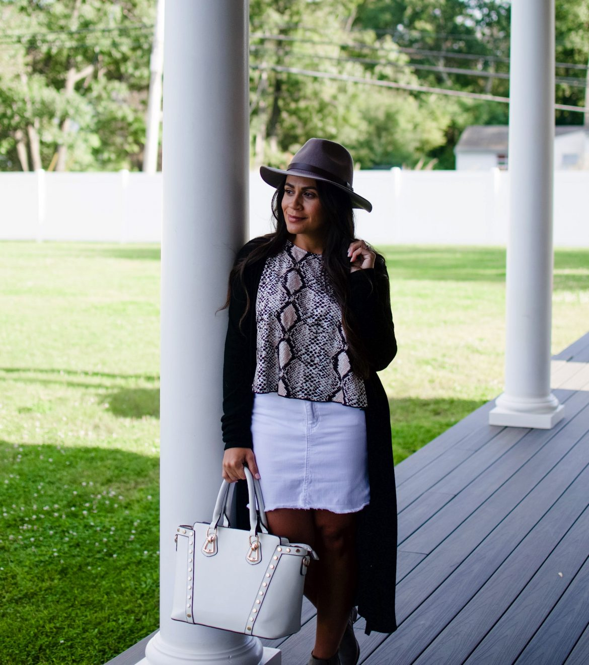 Melissa Mom with Style Snake Print Top Styled Two Ways