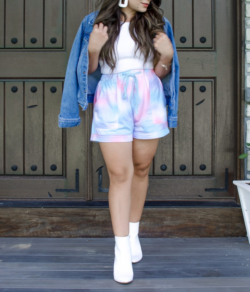 Melissa Mom with Style Bella V Boutique Tie Dye Shorts