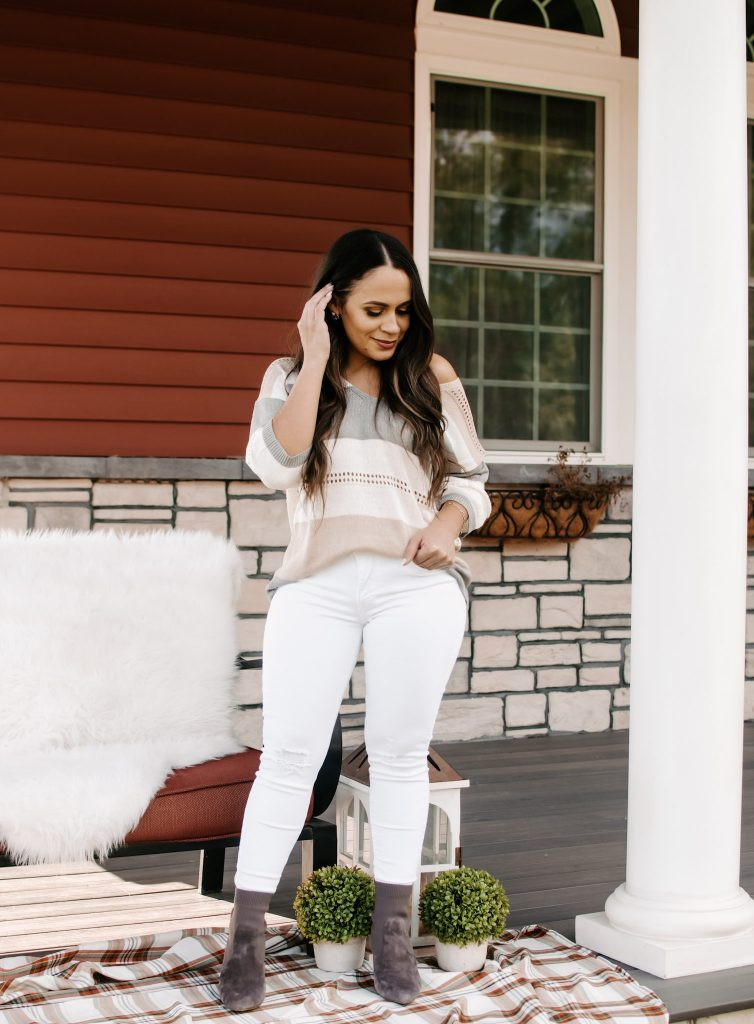 Melissa Mom with Style Trend Alert Neutral Outfit