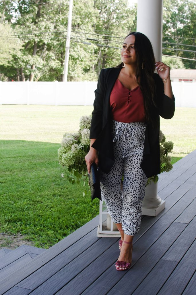 Melissa Mom with Style How to Style Joggers for a Dressy Look
