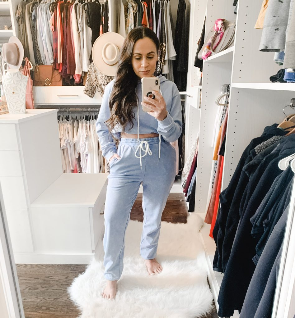 Melissa Mom with Style Trendy Cotton Blue Loungewear Set