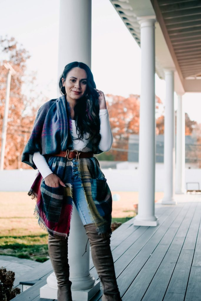 Melissa Mom with Style How to Style a Belted Scarf