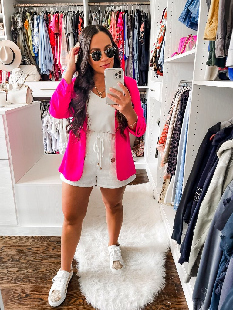 Melissa Mom with Style How to Style a Colorful Blazer for Summer
